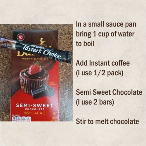 Instant coffee and chocolate