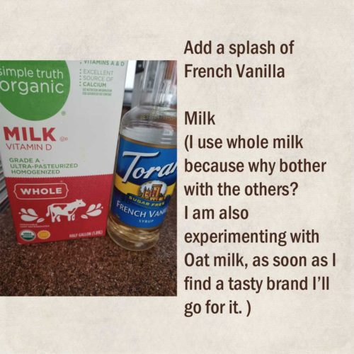 whole milk and french vanilla